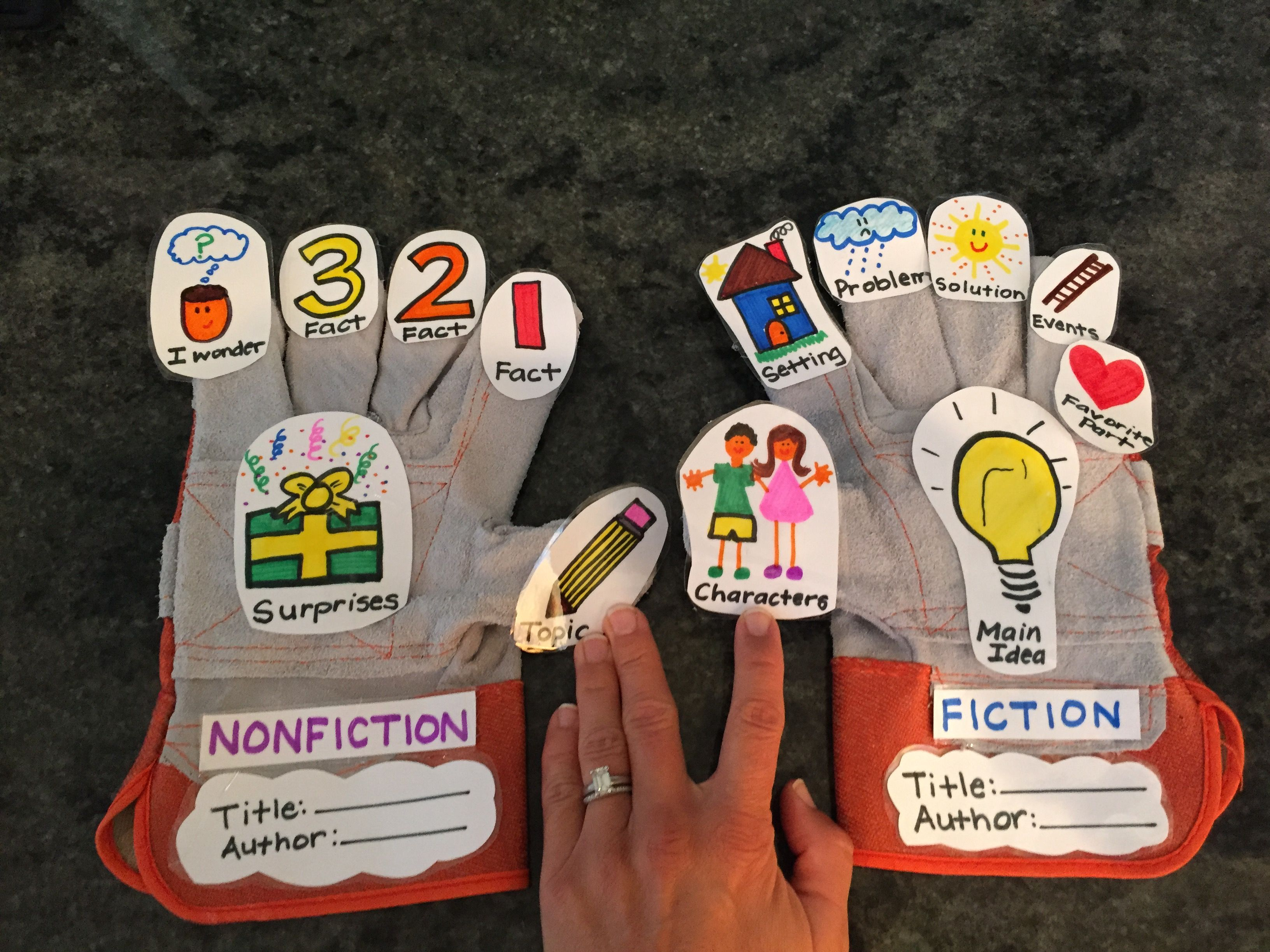 Fiction And Nonfiction Retelling Gloves For Youngest