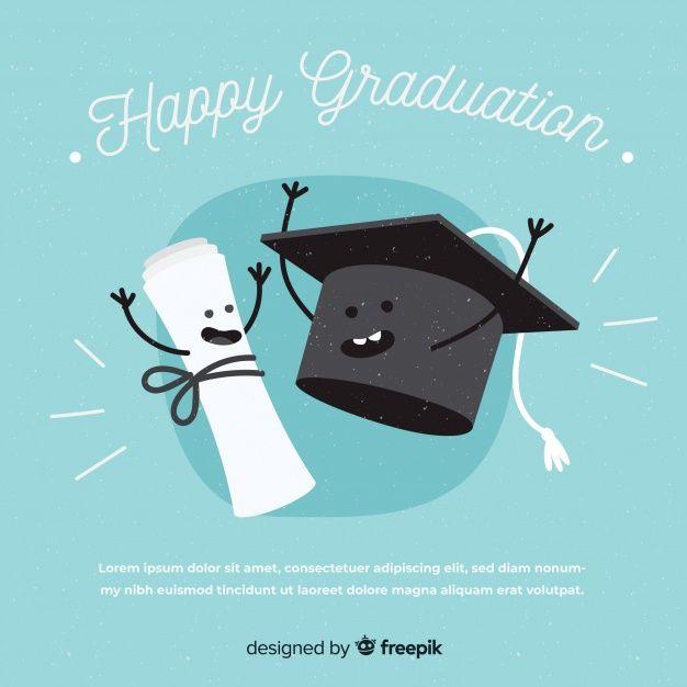 Birrete de graduación y diploma con diseño plano vector gratuito ... d5382105a7e