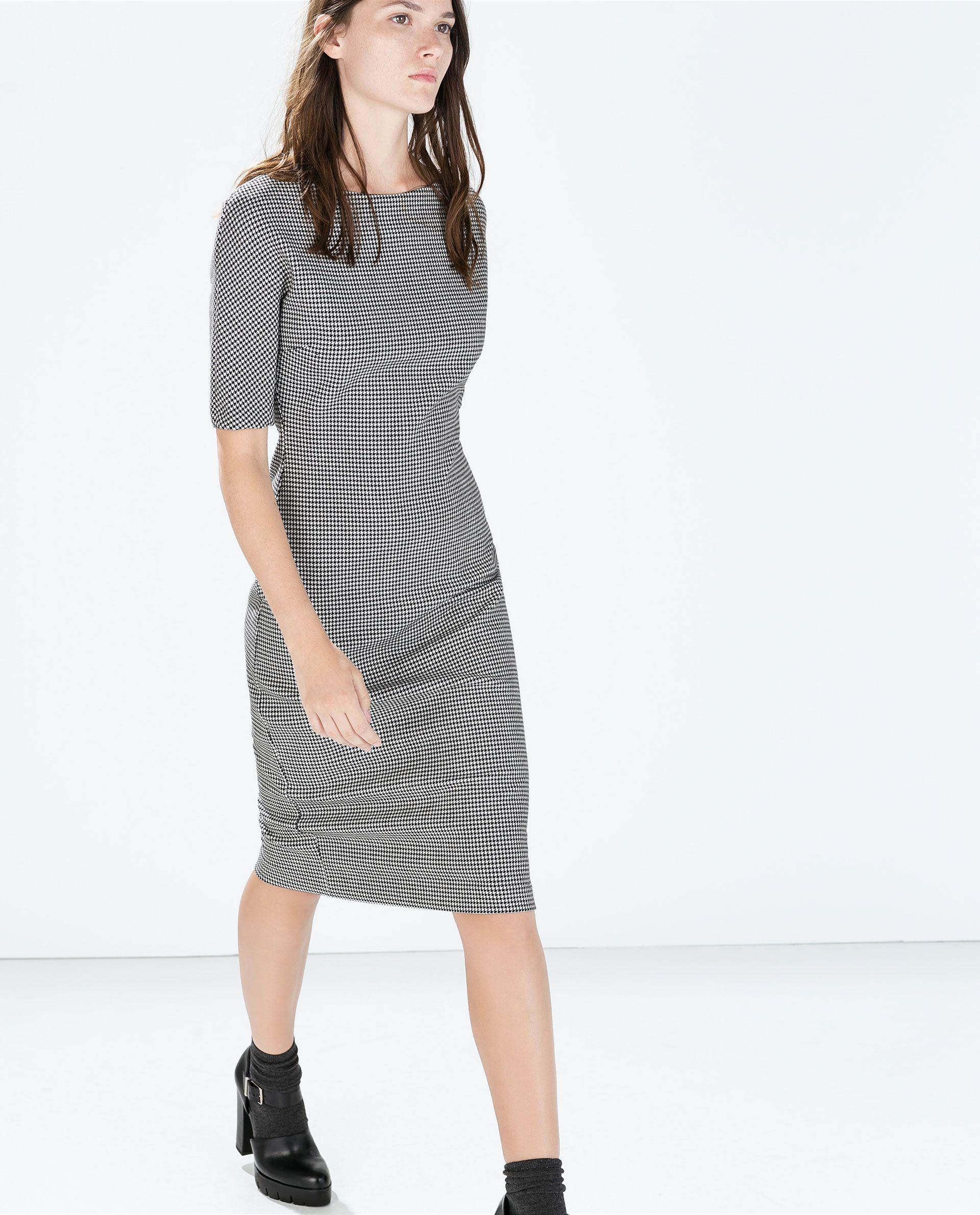 52d0172f PRINTED BOAT NECK DRESS from Zara | clothing | Pinterest | Kleren ...