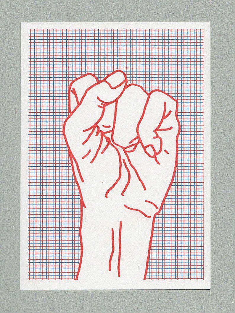 Risograph Print Mini Poster Rote Faust Riso Print Risographie