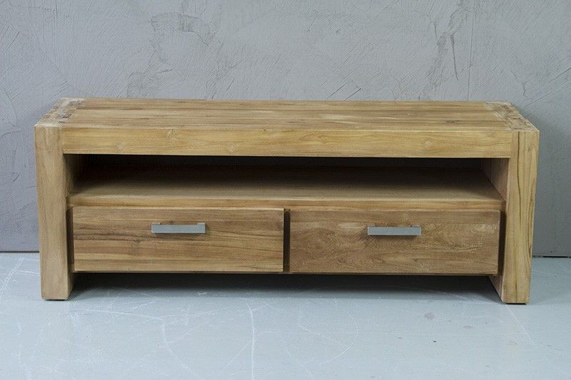 Audio Meubel Teak : Teak geborstelde novo tvkast tvdressoir audiomeubel