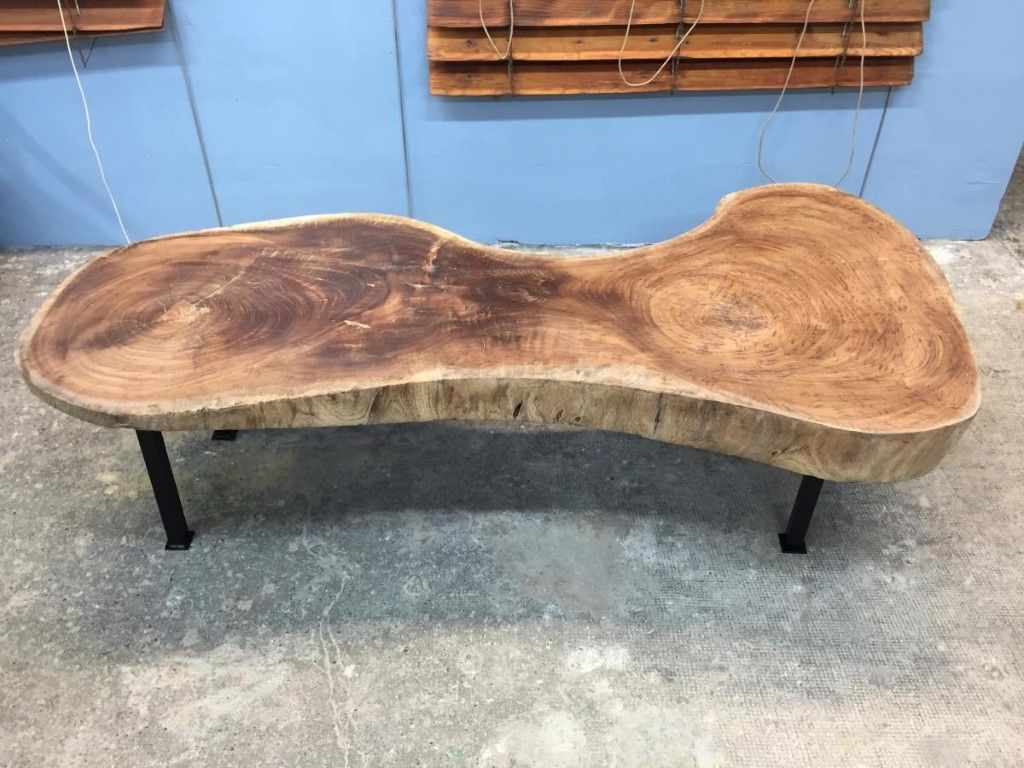 Table Basse Bois Brut Antiquités Guillaume Duchemin Proantic