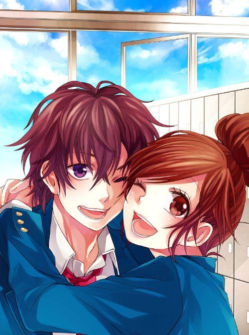 Honeyworks School Girl School Boy Animasi Pasangan Animasi Gambar Anime