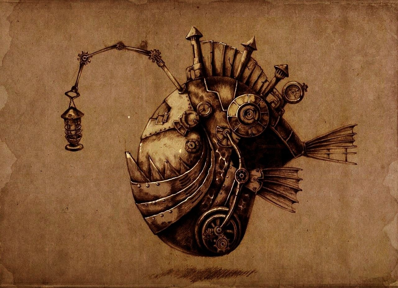 chinese artist Donny Liu  Steampunk Illustrations by chinese artist Donny Liu   by 魅日屋 Nature and more Cool steampunk critters 58 Steampunk Tendenc...