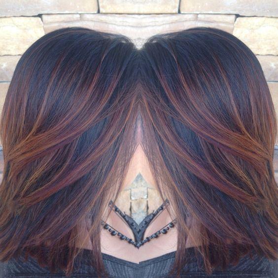 Dark Brown Hair With Auburn Highlights Hair Styles Etc