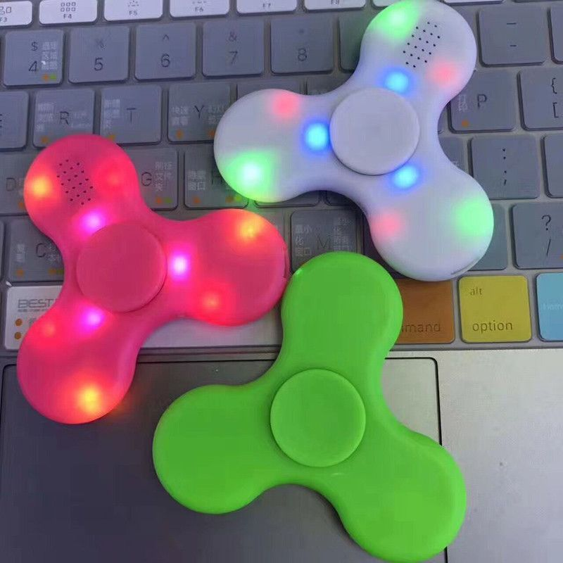Capable 2017 Hot V4.0 Bluetooth Music Spinner Wireless Speaker Fidget Decompression Toy Led Light Edc Plastic Fidget Toy Hand Spinner Sufficient Supply Stress Relief Toy Fidget Spinner