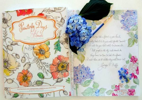 Beginner Watercolor Painting With Painterly Days Coloring Books