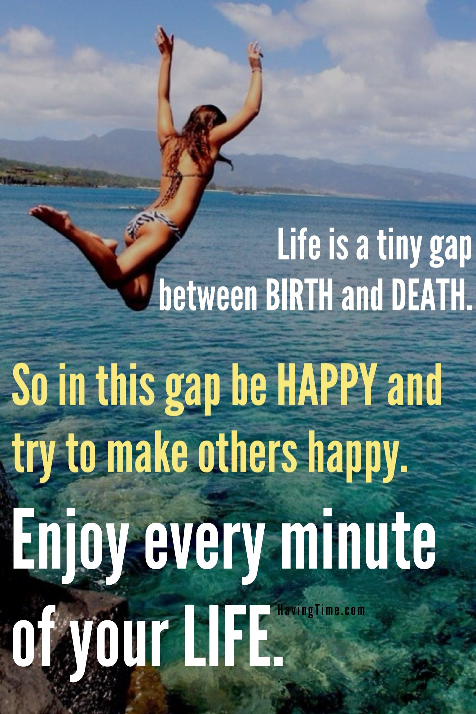 Quote Life Happy Cliff Jump Quotes