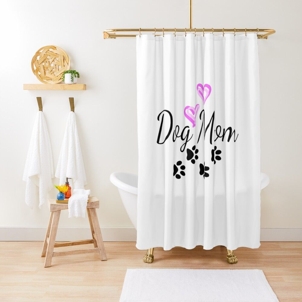 Dog Mom Love Shower Curtain By Irenza In 2020 Curtains Cat