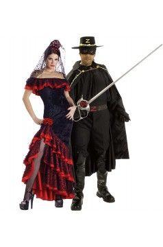 Bandita Beautiful Adult Womens Costume Elite Collection Zorro Black Halloween