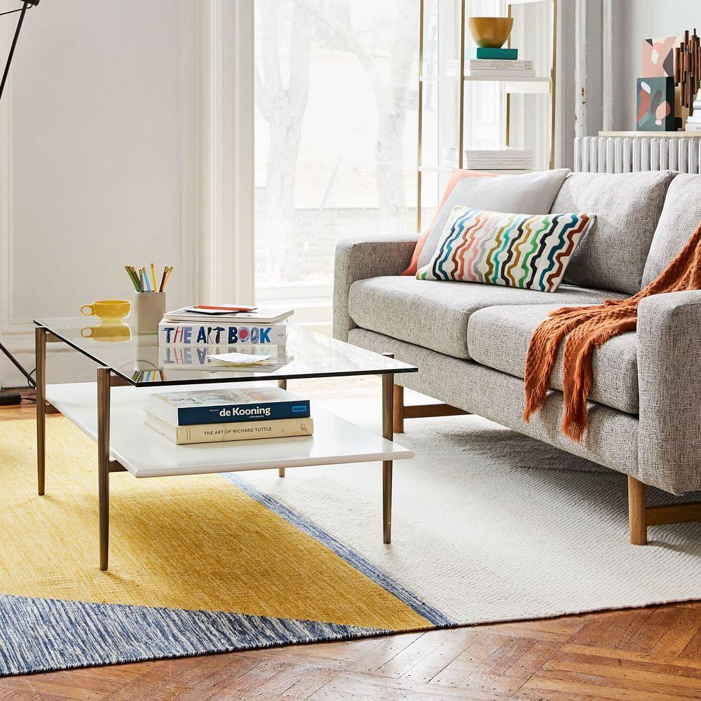 Midcentury art display coffee table cloud display