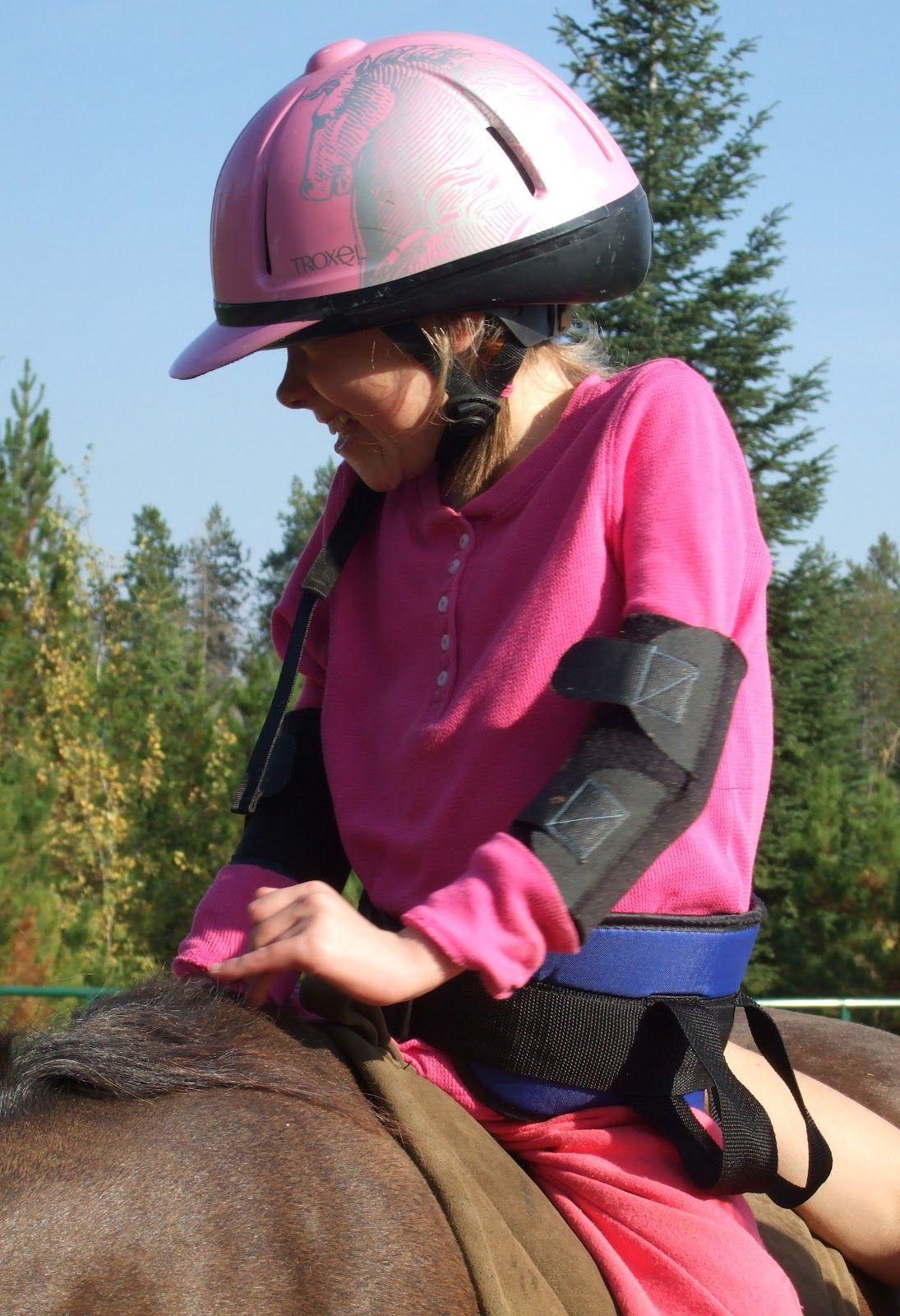 Alexandra or another Rett Horseback Riding Riding
