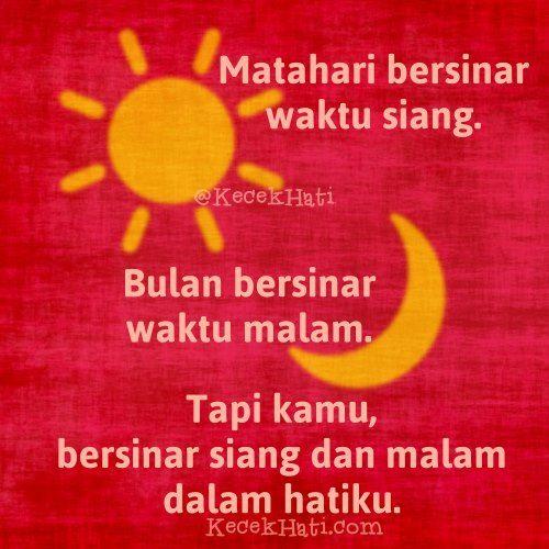 Matahari Bersinar Waktu Siang Bulan Bersinar Waktu Malam Tapi