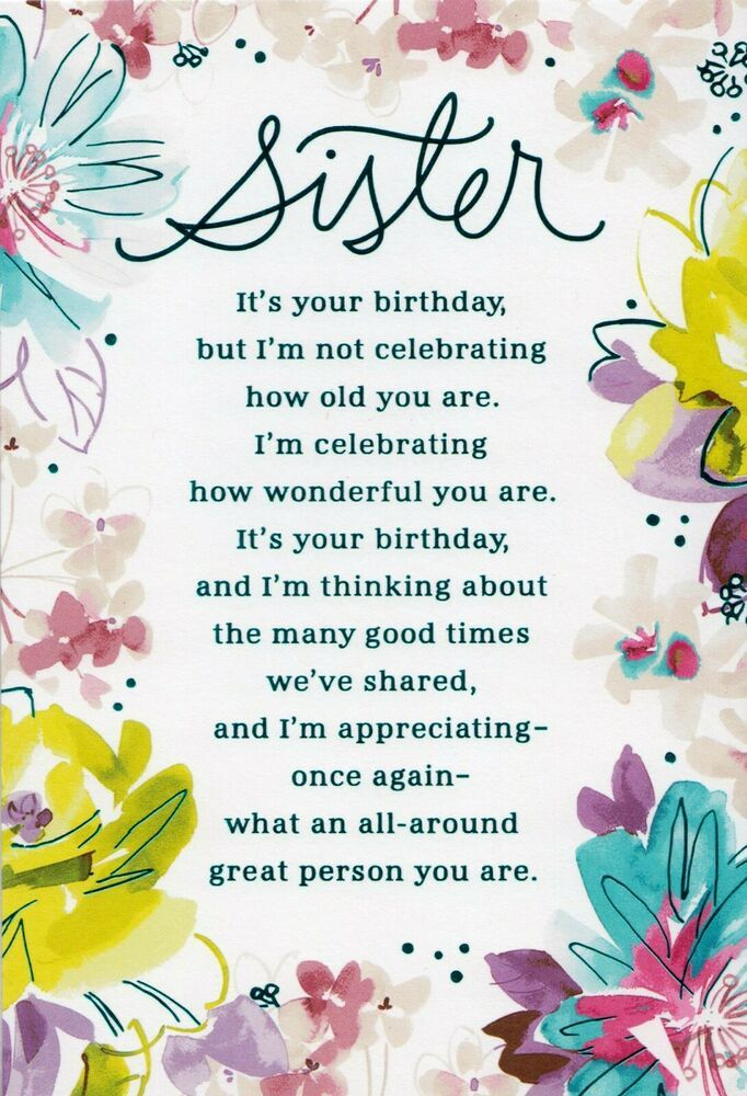Hallmark Happy Birthday Sister It S Your Birthday Greeting Card Hallmark B Happy Birthday Sister Quotes Sister Birthday Quotes Birthday Greetings For Sister