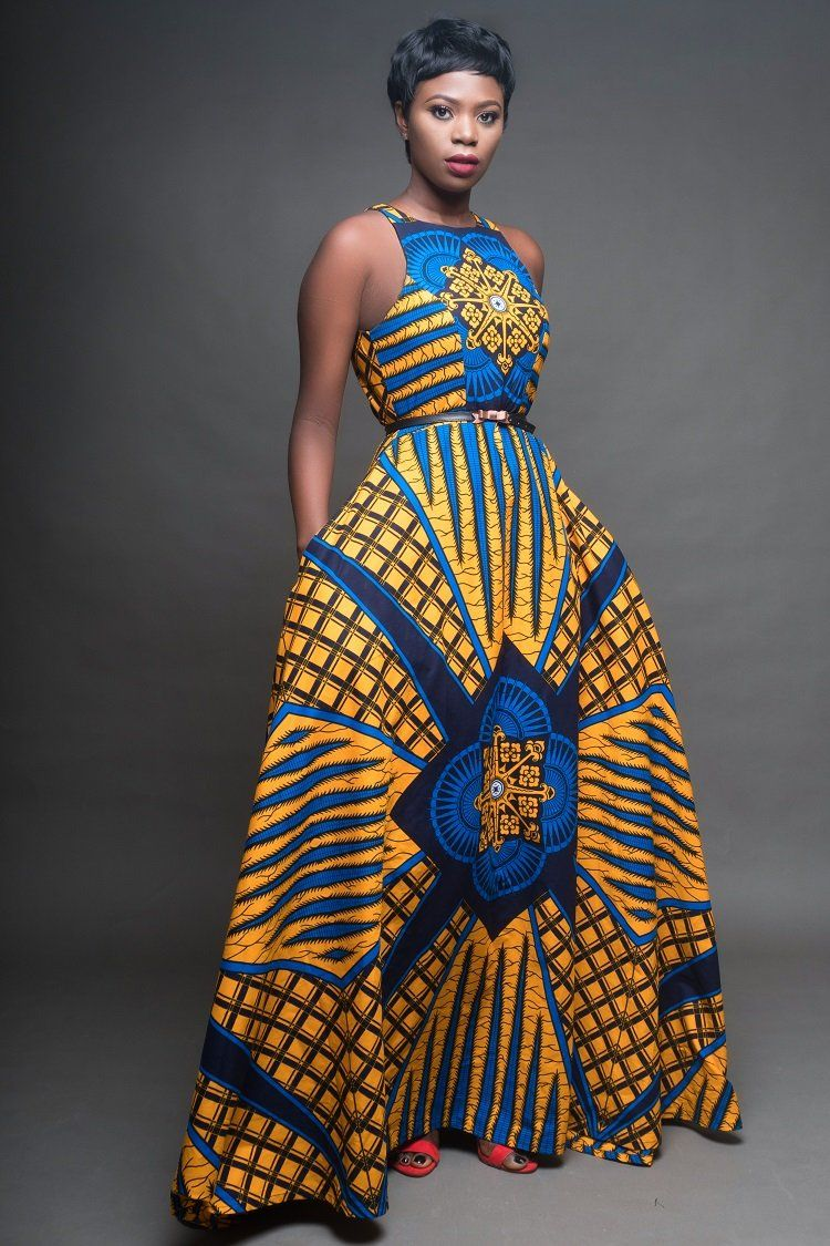 Moremi African Print Dress
