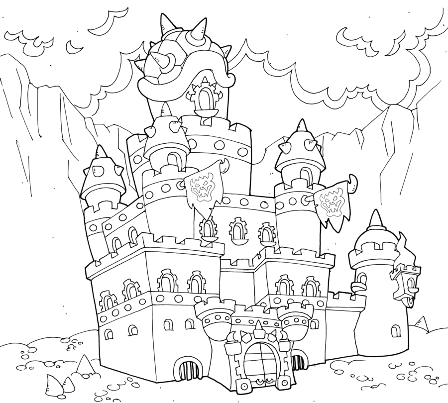 Castle of Koopa by BenjaminTDickens Castle, Art, Bowser
