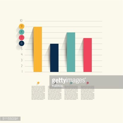 Example of business flat design graph Infographics chart Flat
