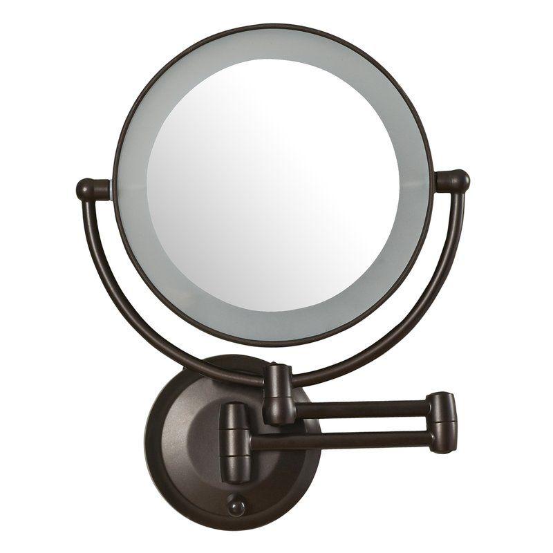 Aldona Led Lighted 1x 10x Magnification Mount Wall Mirror Wall Mounted Magnifying Mirror Lighted Shaving Mirror Wall Mounted Lighted Makeup Mirror