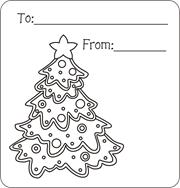 christmas gift tags to color free printable gift tags for kids to color christmas - Christmas Tree To Color Free
