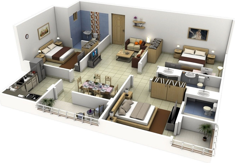 planos de departamentos pequeos modernos - Planos De Casas Modernas