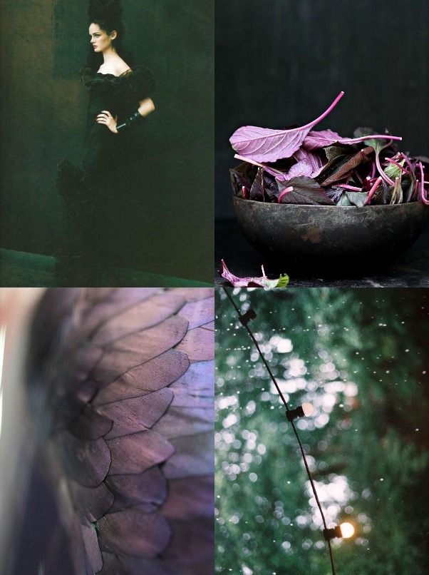 Weekend Moodboard: Dark Green+Purple - Eclectic Trends  #moodboard