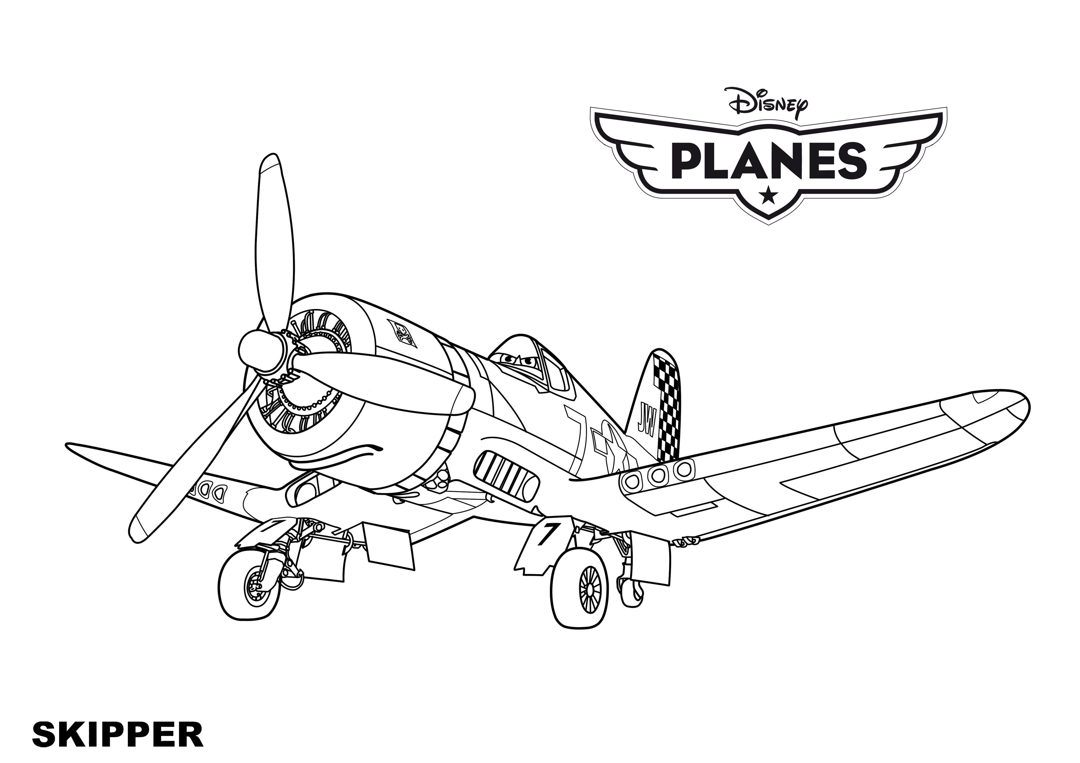 Disney Planes Coloring Pages Skipper