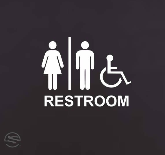 Handicap Restroom Signs Handicap Bathroom Sign Handicap Restroom - Handicap bathroom sign