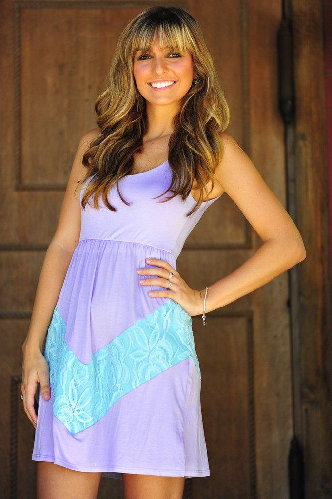 A Perfect Summer Dress: Purple/Blue