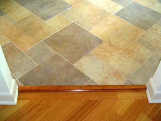 Pattern Tile And Carbonized Bamboo Meet At An Angled Archway Into