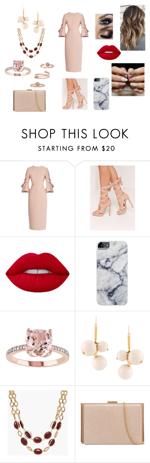"""""""Engagement Party!"""" by roxy-crushlings on Polyvore featuring Roksanda, Missguided, Lime Crime, Marni, Talbots and Kendra Scott"""