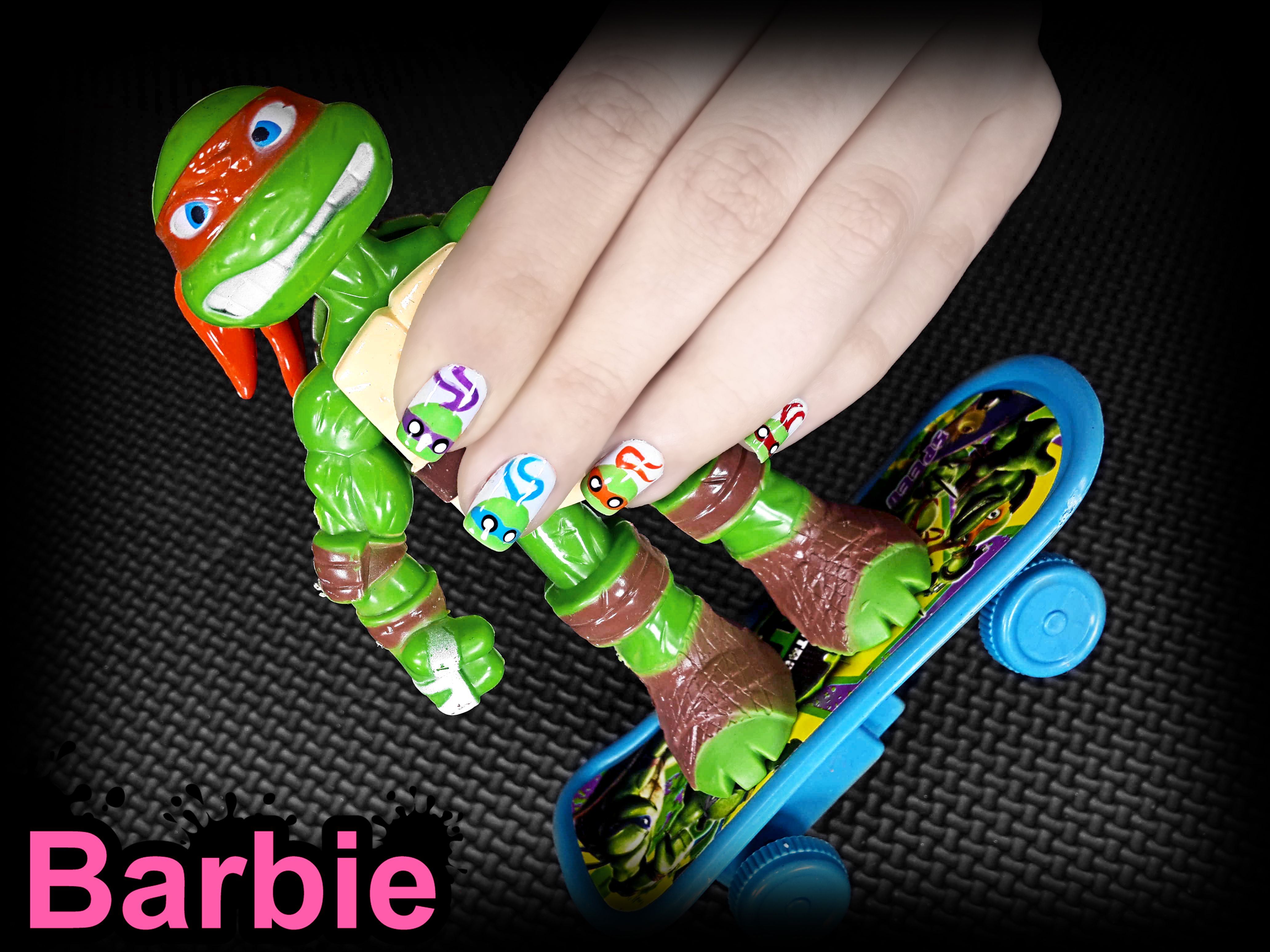 TMNT Nails - Nail design inspired by the franchise, Teenage Mutant ...