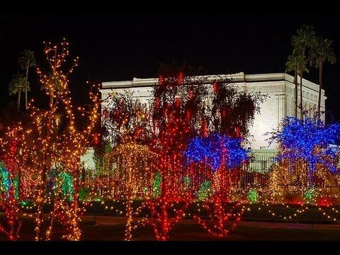 Christmas lights on the mesa arizona temple grounds the church of jesus christ of latter