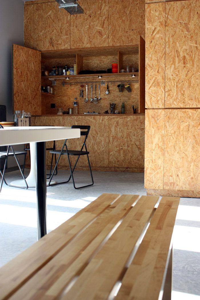 Praktische Schrankküche | OSB :o) | Pinterest | Plywood and Strand ... | {Schrankküche 59}