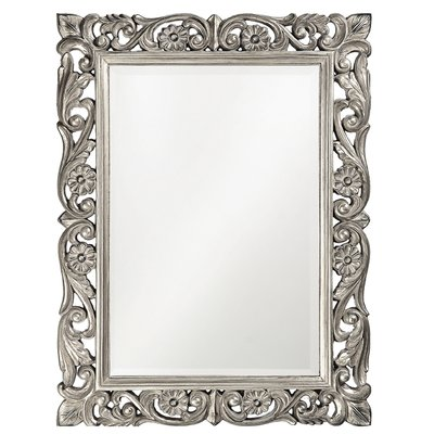 House Of Hampton Traditional Beveled Accent Mirror Finish Nickel Plastic In Red Silver Gray Size 31 42 H X 31 42 W X In 2021 Mirror Wall Rectangle Mirror Mirror