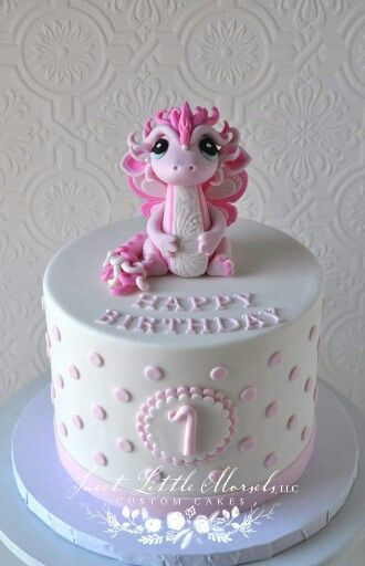 Enjoyable Very Pretty Pink Dragon Cake With Images Dragon Birthday Cakes Funny Birthday Cards Online Chimdamsfinfo