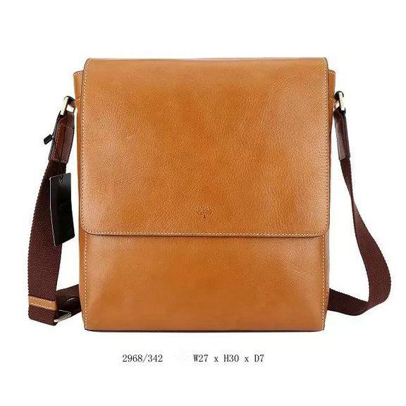 2015 New Mulberry Maxwell Slim Messenger Bag Oak Leather for Men ...