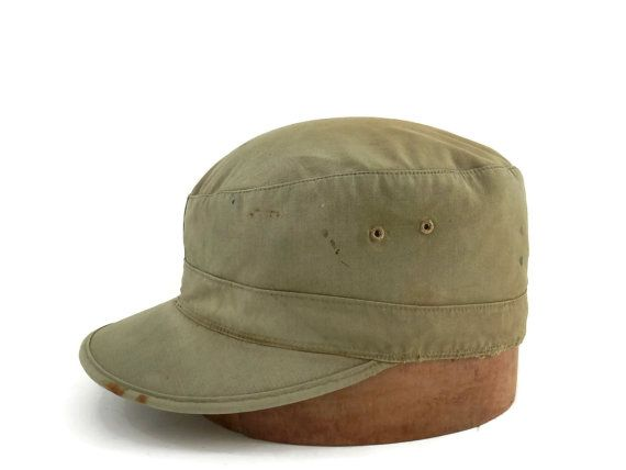 WWII Army Field Cap w/ Visor and Ear Flap Ranger or Filed Cap