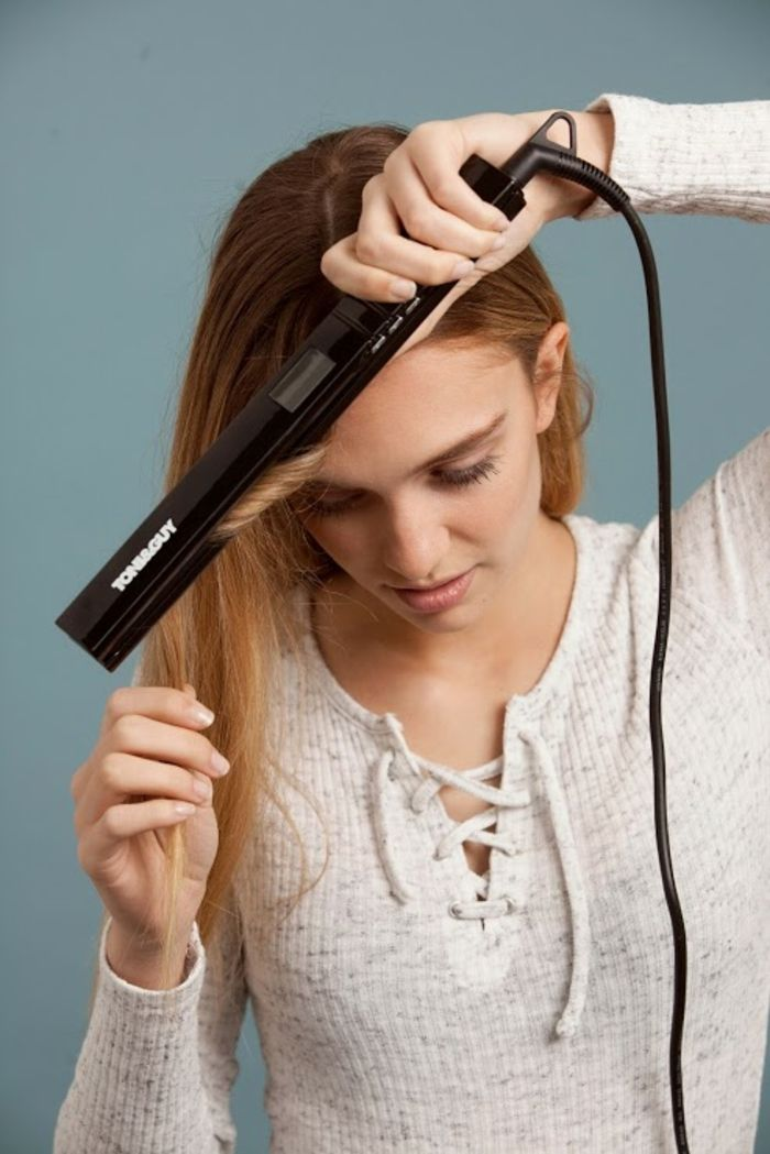 1001 id es comment faire des boucles avec un lisseur coiffures pinterest comment boucler. Black Bedroom Furniture Sets. Home Design Ideas