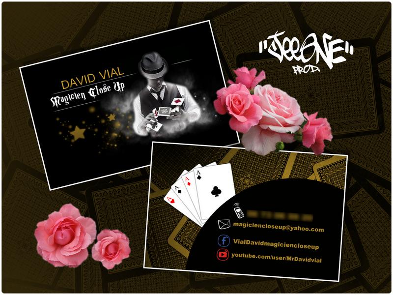 Cration Business Card Recto Verso By JeeOne Prod Pour David Vial Magicien Close Up