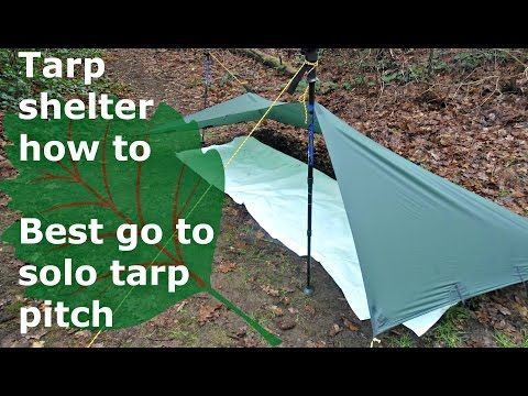 Tarp Pitch Asymmetrical Holden Youtube Wall Tent Tarps Bushcraft Shelter