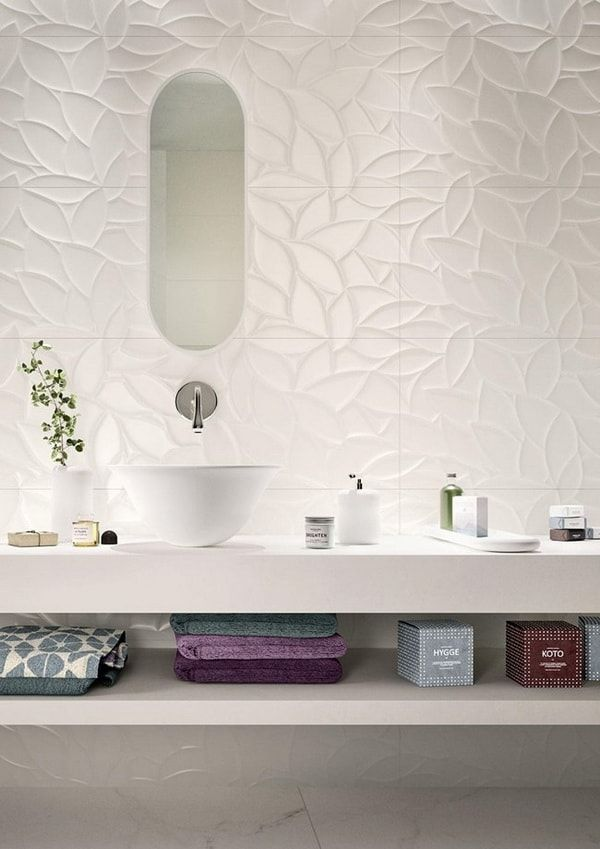 Azulejos para baños con relieve   Azulejos cuarto de baño ...