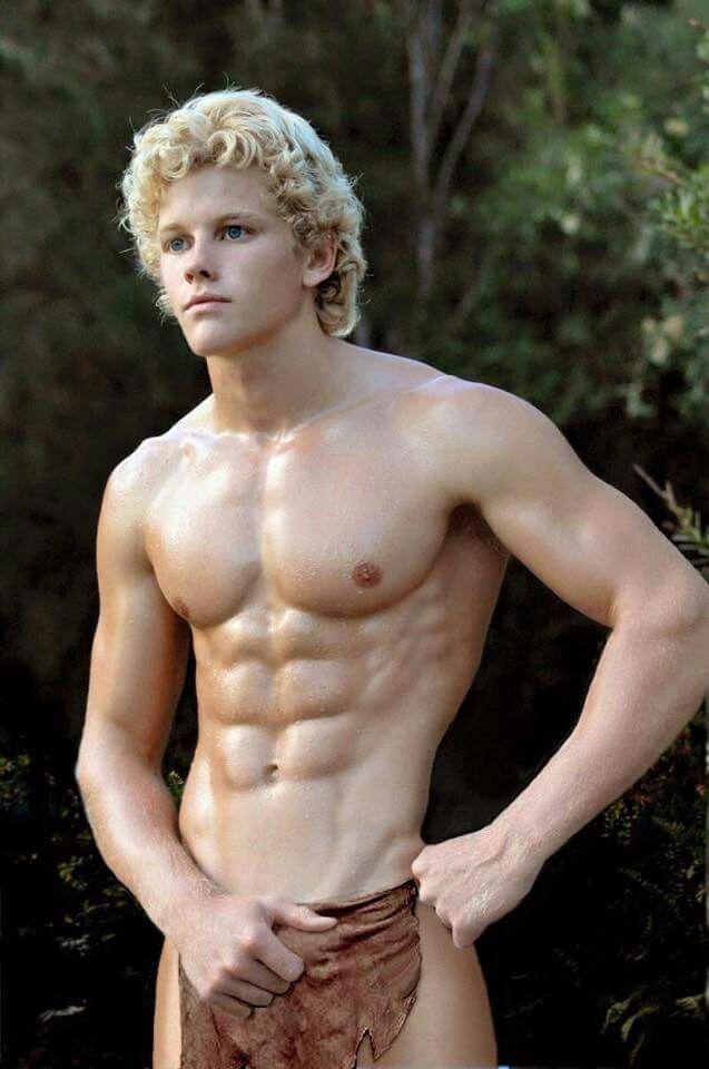 Sexy gay blonde