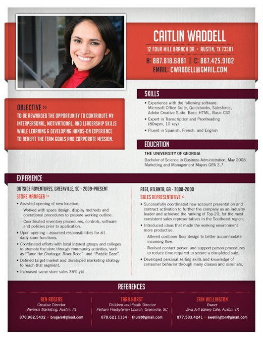 High Quality Custom Resume\/CV Templates Template, Cv template - interesting resume templates