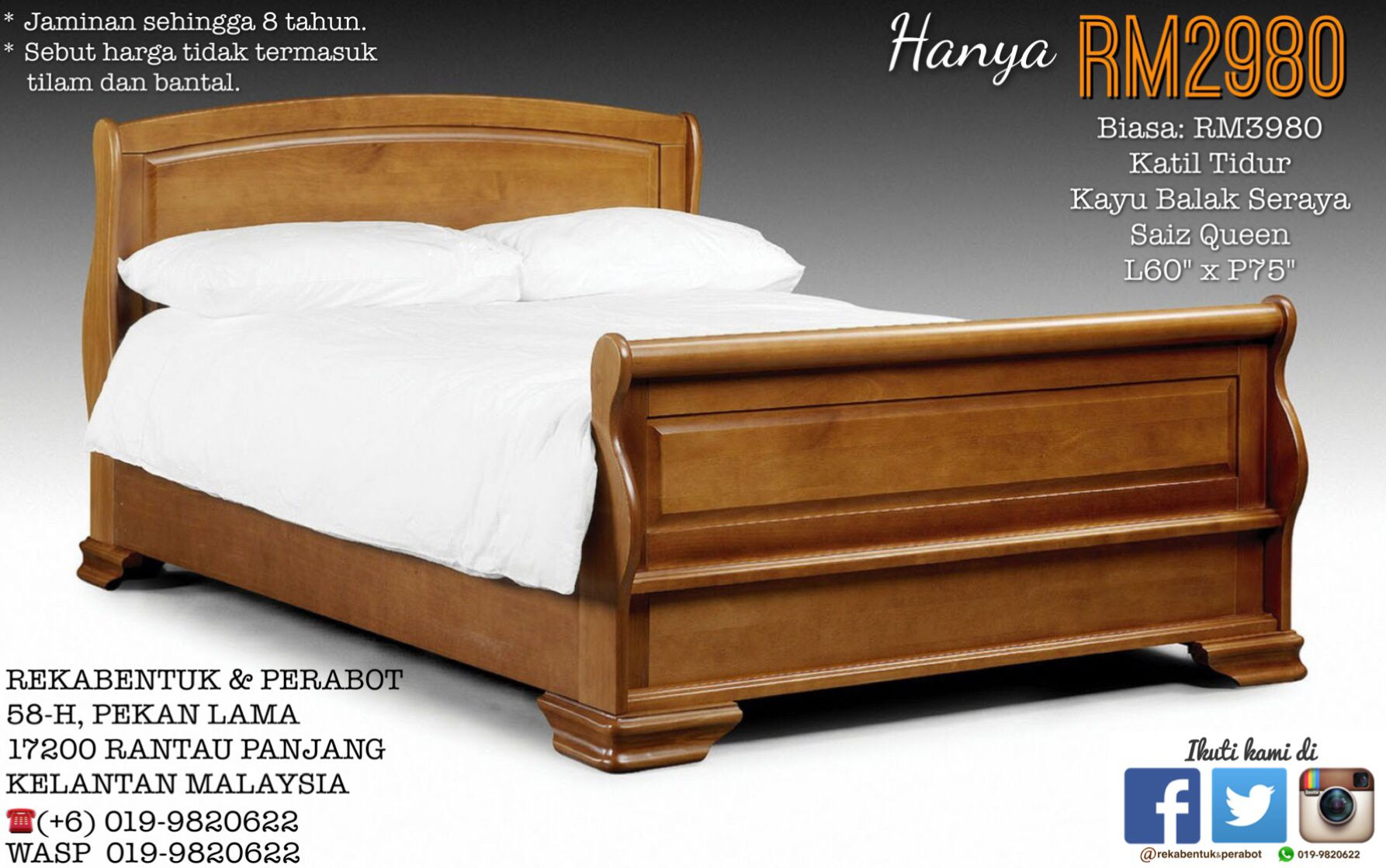 Kelantan Bed Design Frame