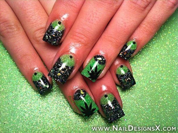 Marijuana nail art nail designs nail art mix nail designs marijuana nail art nail designs nail art prinsesfo Gallery