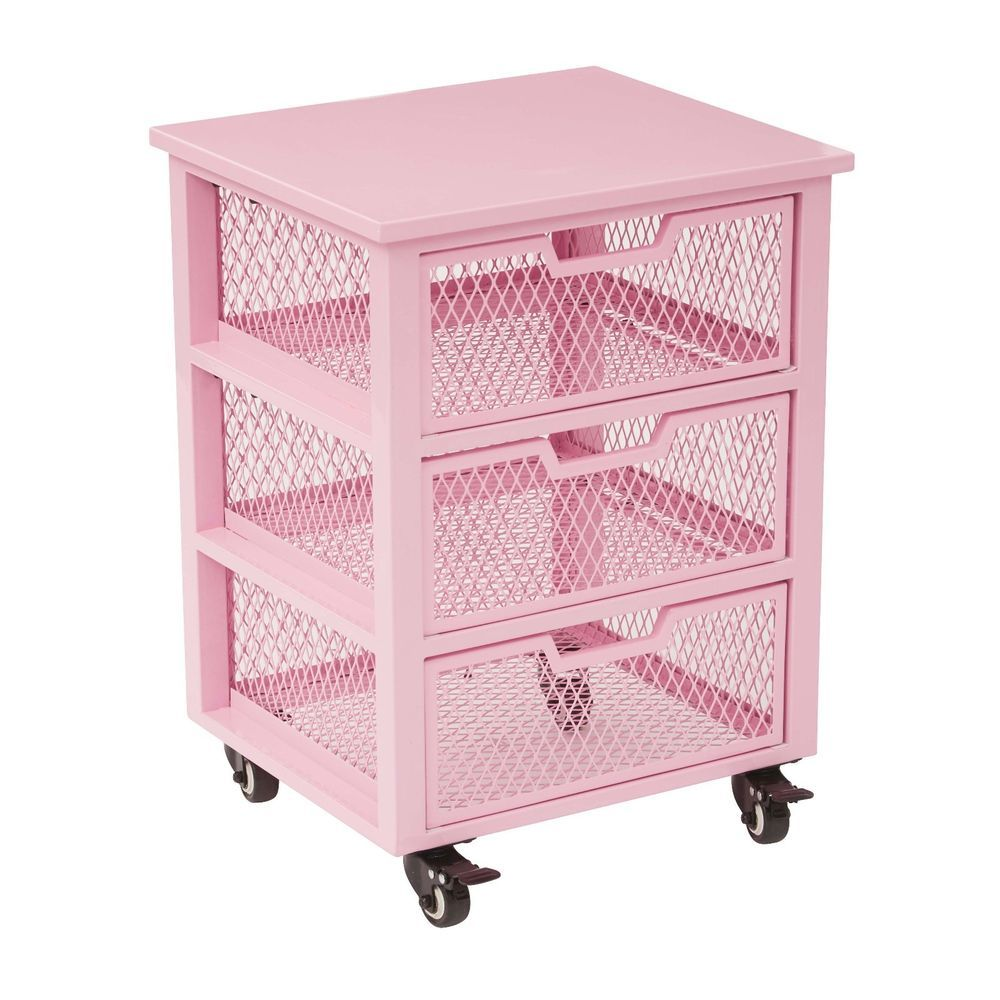 Uncategorized Pink Storage Cart pink storage box 3 drawer girls rolling cart cabinet organizer container metal ospdesigns