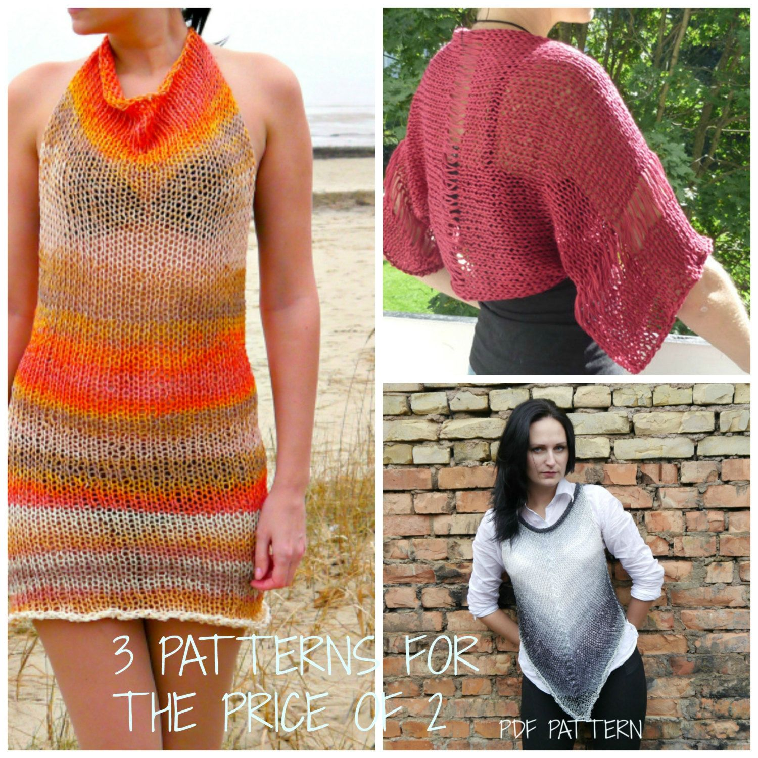 How to tie a dress with knitting needles