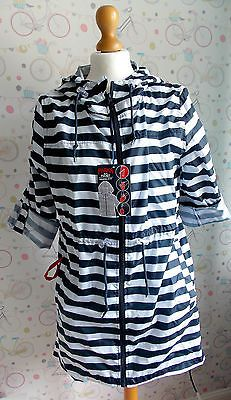 f9d81ef70bde6 women's blue white stripe parka in a pocket size Small Primark NEW with  tags in Clothes, Shoes & Accessories, Women's Clothing, Coats & Jackets |  eBay