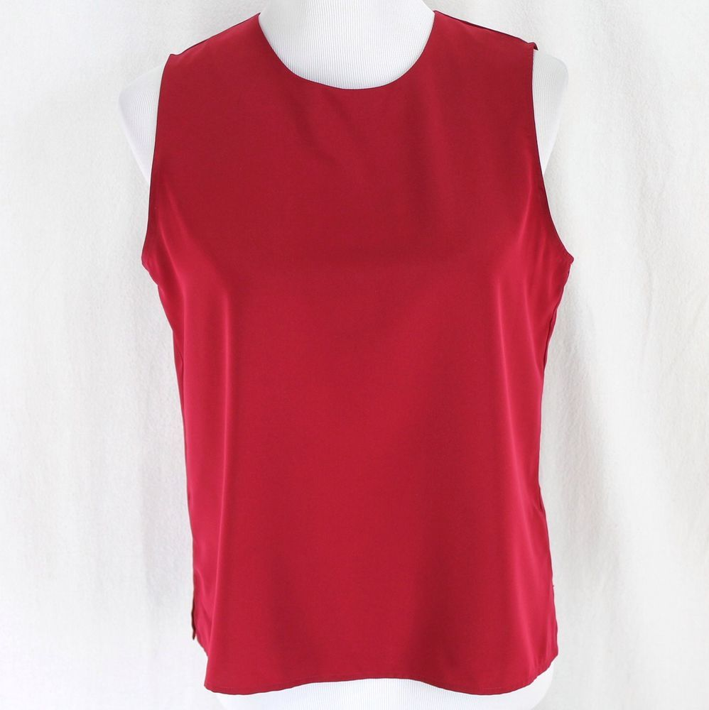 33c64825a6c77 Notations Sleeveless Blouse Sz M Red Lightweight Polyester Tank Top Shell   Notations  Red