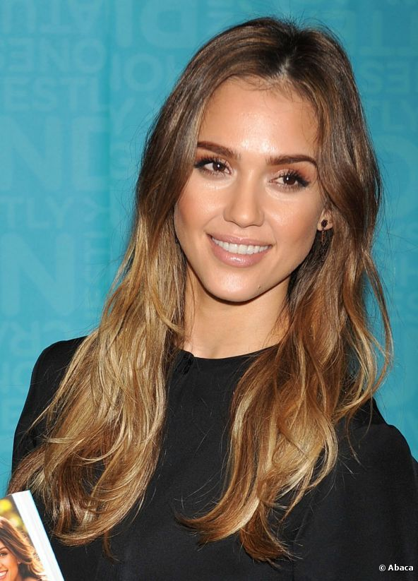 Jessica Alba looks great with a subtle ombre hair dye, which she showed off in a long, loose style as she signed copies of her new book 'Jessica Alba The Honest Life' at Vroman's Book Store in Pasadena on 16 March 2013 in California.